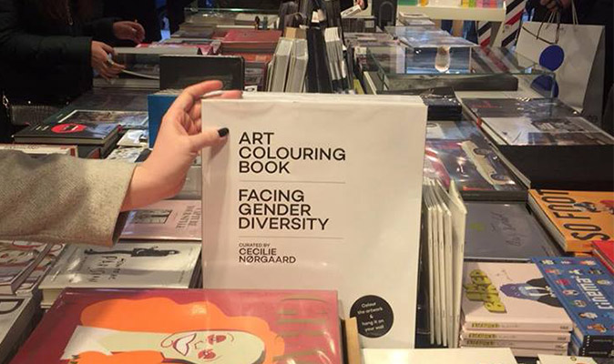 'Art colouring book – facing gender diversity' curated by Cecilie Nørgaard (Mangfold publishing)