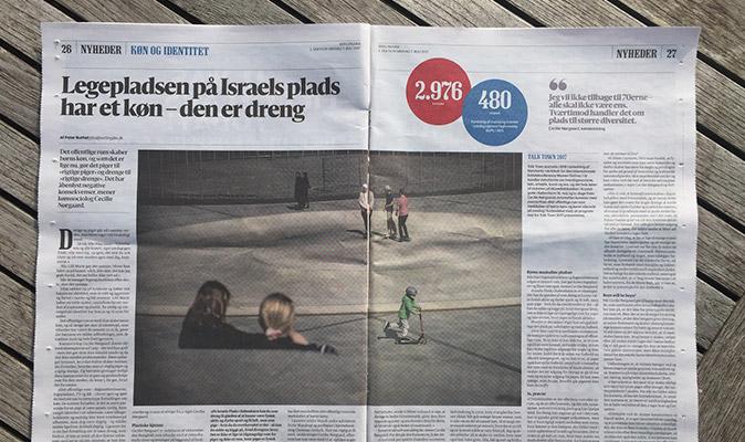 'Israels Plads har et køn – den er dreng'. Berlingske Tidende, 7. Maj 2017