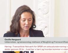 Cecilies indlæg til høringen på Christiansborg i anledningen af 50året for Seksualundervisningen