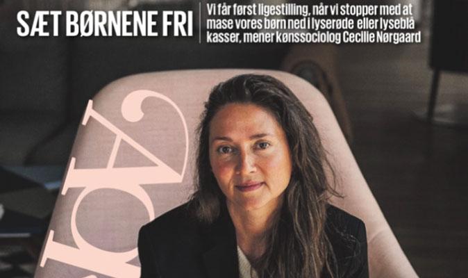 I forbindelse med bogudgivelsen 'HAN HUN HEN – opdrag til ligestilling og mangfoldighed' (Gyldendal), er Cecilie interviewet til Berlingske
